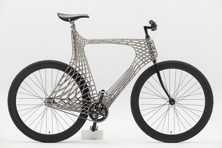 A Fully Functional and 3D-Printed Metal Bike made by Dutch Students and MX3D