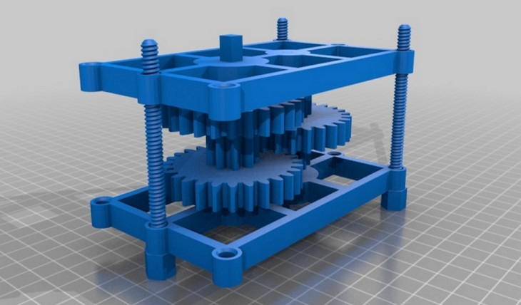 3D Printing A DC Motor Powered Reduction Gear Train