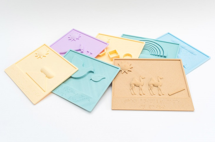 3D-Printed Children's Books for the Visually-Impaired Kids