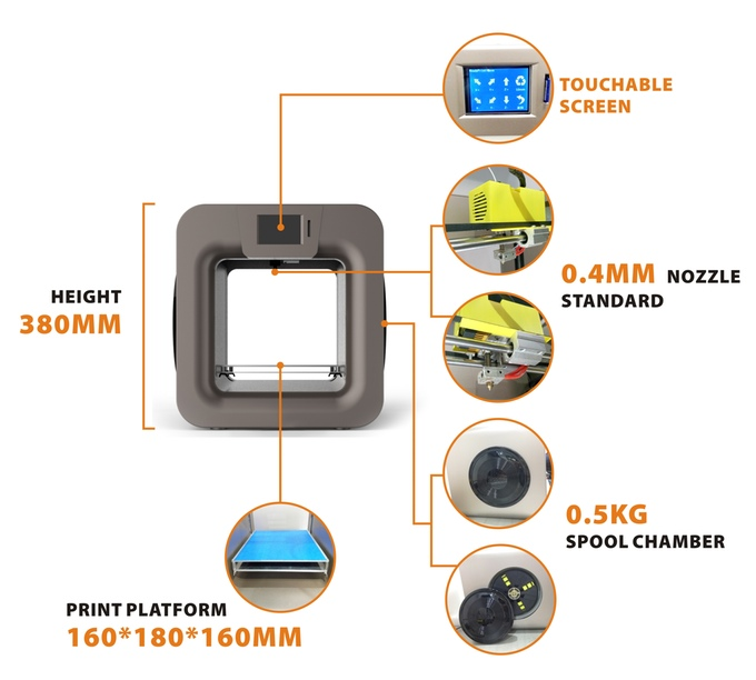 B-creative 3D Printer: A User-friendly Wireless Machine For Easy Printing