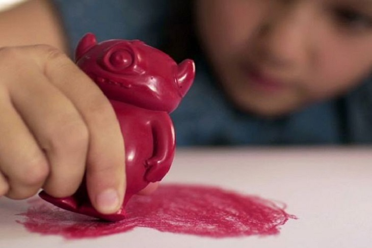 3D Printing Molds Monster-themed Crayons for Kids