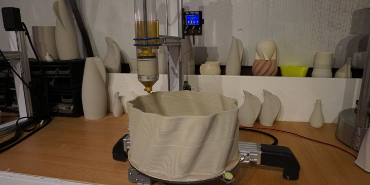 Creating Ceramics through Music and 3D Printing