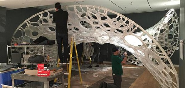 The Use of 3D Printing in Creating the Light-Emitting Pavilion