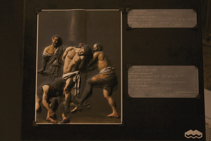 3D Printing Caravaggio Painting for Blind People