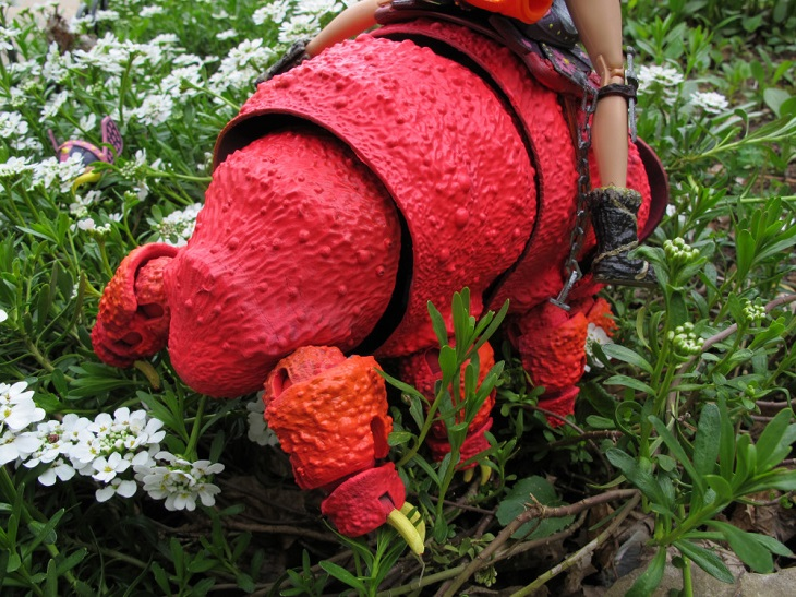 See How Your Barbie Rides on 3D Printed Tardigrade