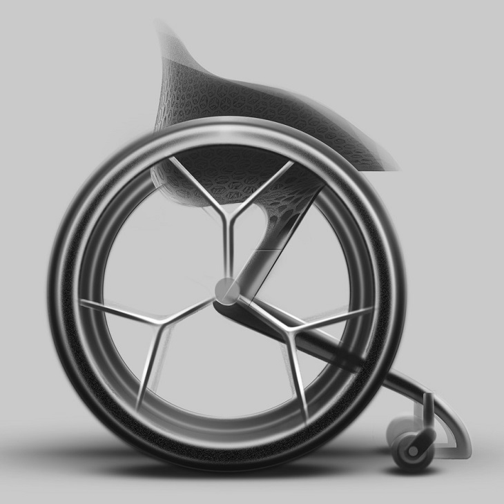 The First 3D Printed Wheelchair in the World Created by Benjamin Hubert