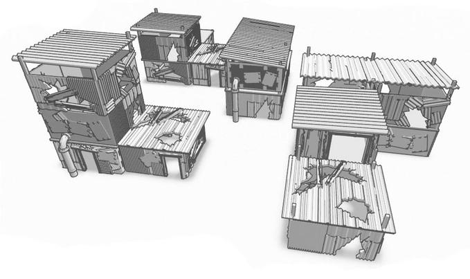 3D Printable Thunder Chrome Apocalyptic Tabletop War-gaming Terrain