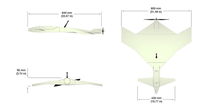 Captor UAS: O-Qualia's 3D Printed Fixed-Wing Drone