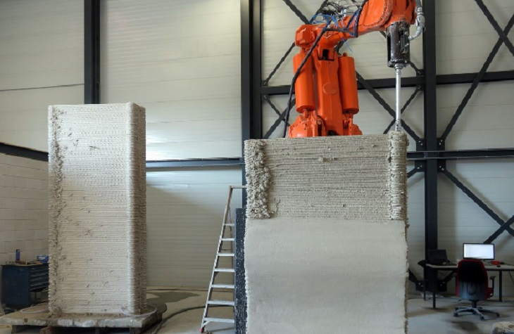 The Creation of Frameworks Using 3D Printed Cement by Heijmans and Cybe