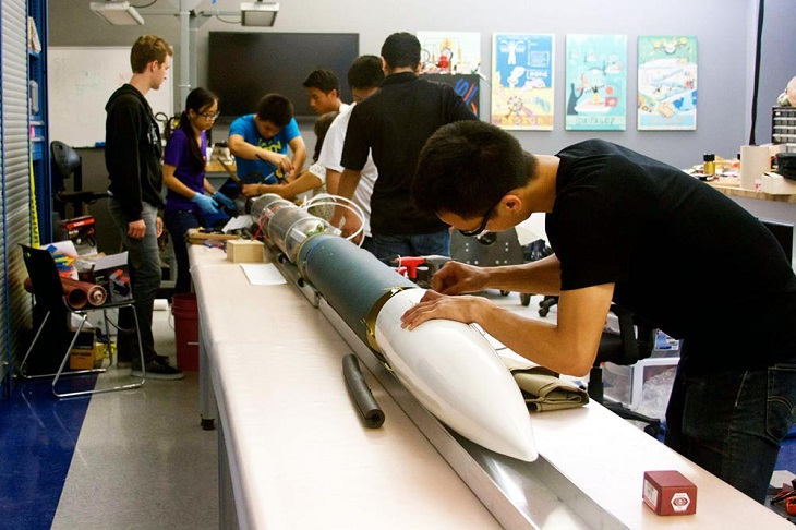 3D Printed Rocket Engine Created by a Group of Students