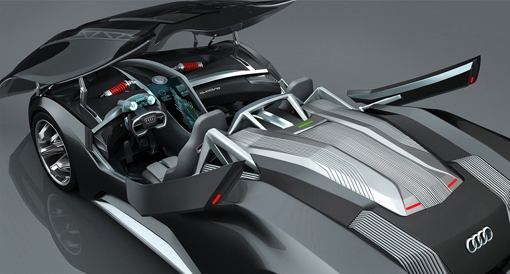 Audi F-Tron Concept Car Using 3D Printing and Nuclear Power