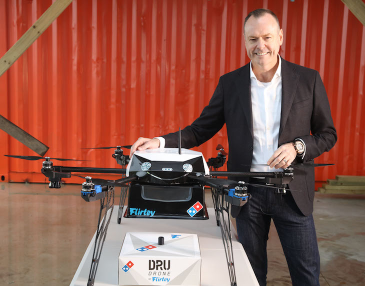 New Zealand Offers the First Drone Pizza Delivery in the World